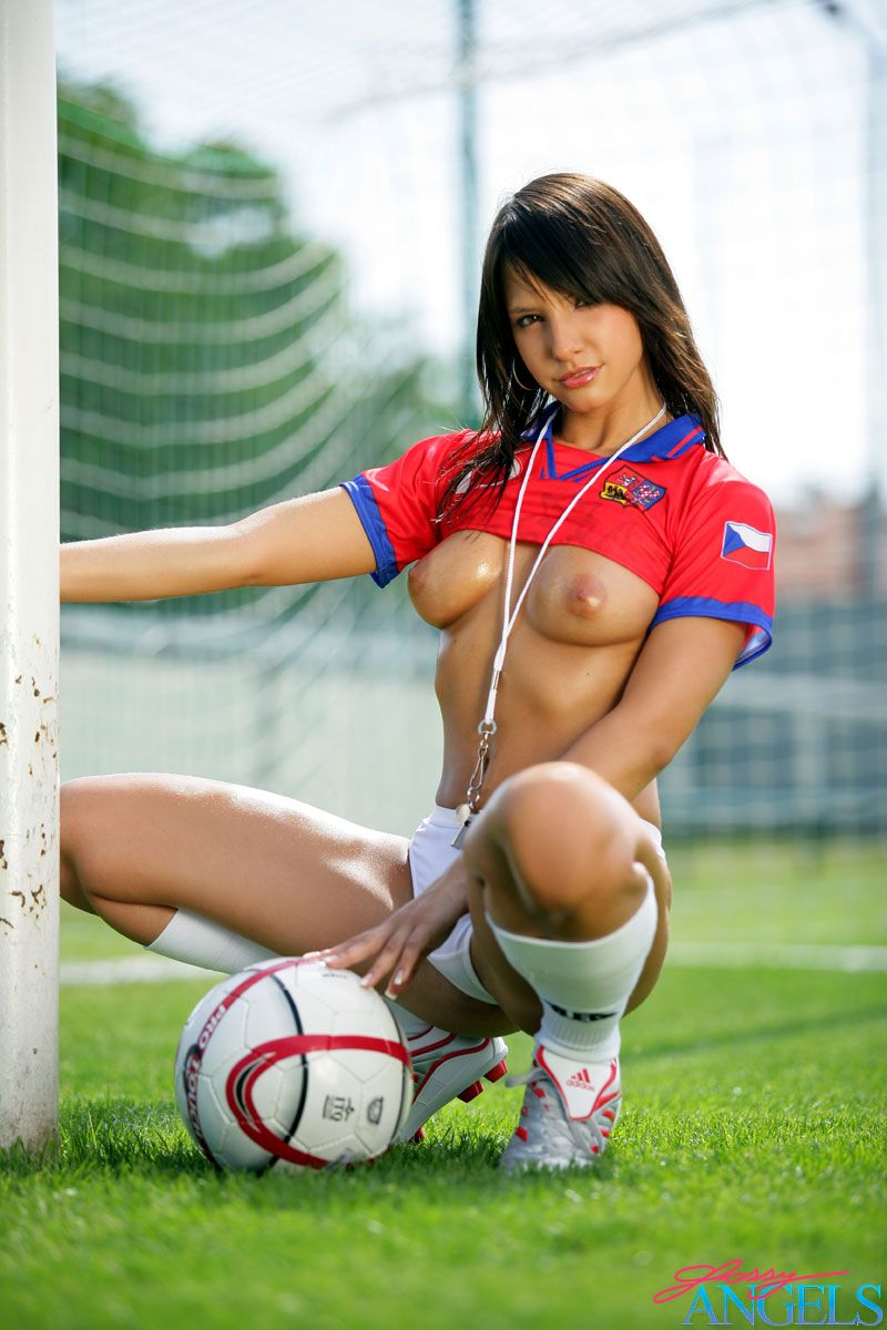 Advise Sexy topless football girl topic remarkable